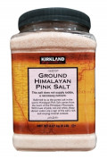 KIRKLAND 5磅桶裝100%純天然喜馬拉雅山有機粉紅幼鹽 1