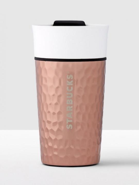 Starbucks 陶瓷閃爍白銅色雙層馬克杯