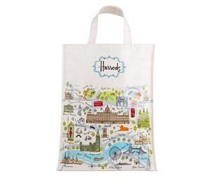 Harrods - 倫敦地圖中號購物袋