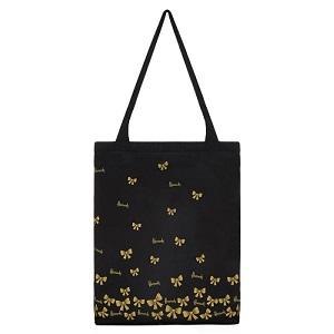 Harrods - 金色蝴蝶結口袋購物袋