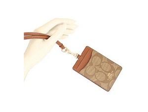 COACH 掛式證件卡套 – Khaki