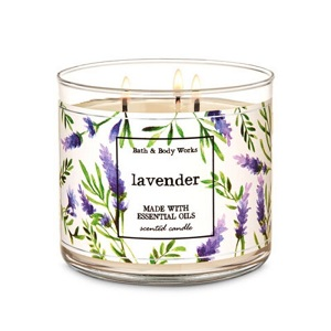 Bath and Body Works - Lavender 三蕊香薰蠟燭