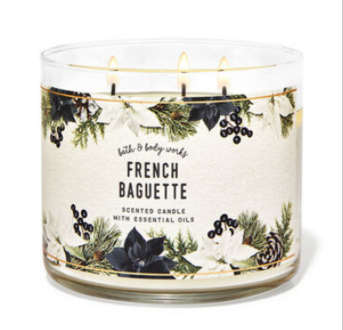 Bath and Body Works - FRENCH BAGUETTE 三蕊香薰蠟燭
